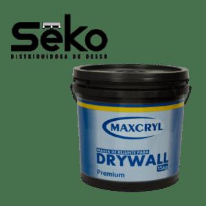 Balde de Massa Para Drywall 15 kg Maxcryl